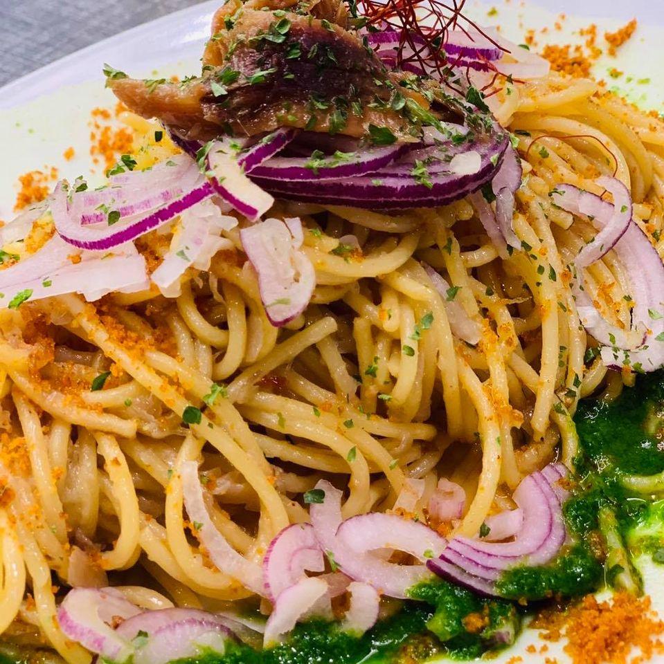 Spaghettone alla Tropeana
